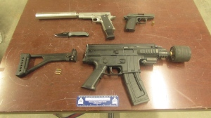 Waterloo Regional Police have seized three firearms during a traffic stop in Kitchener. (Photo: WRPS) (August 23, 2019)