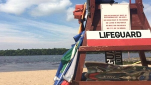 File photo. Barrie lifeguard station.