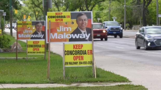 Manitoba Election signs