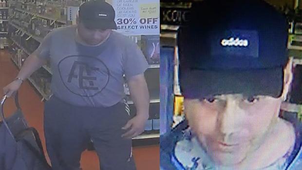 suspect in liquor store thefts
