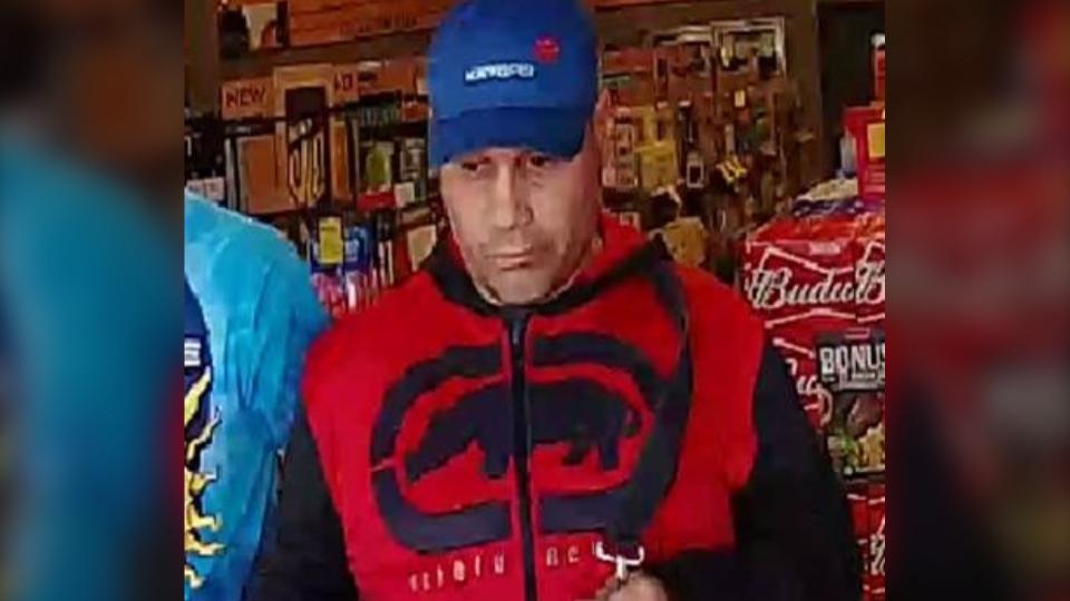 Liquor store theft suspect