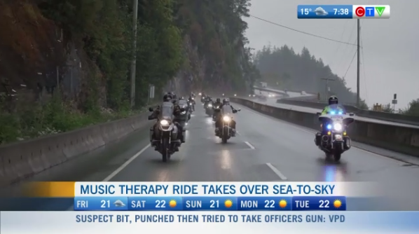 Music Therapy Ride takes over Sea-to-Sky | CTV News