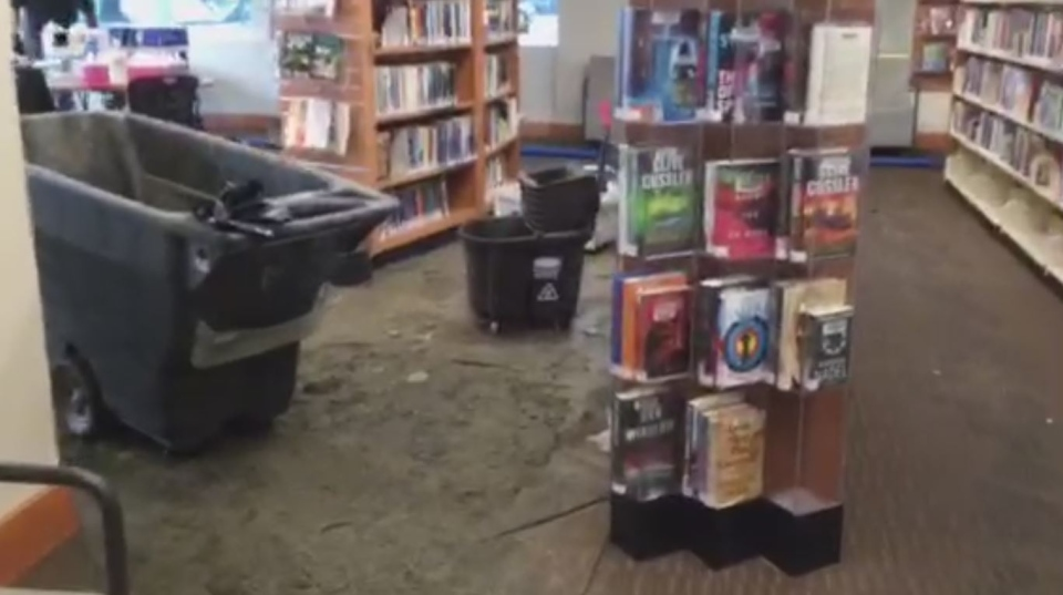 No books or archives were damaged in the flood, according to Saanich district staff. (CTV Vancouver Island)