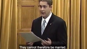 andrew scheer same-sex marriage video old