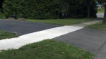 A repaved driveway in Kitchener.