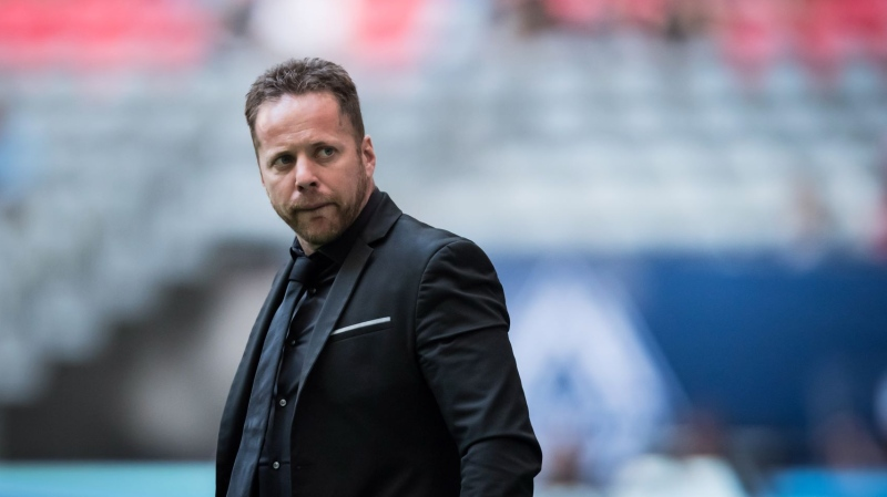 Vancouver Whitecaps head coach Marc Dos Santos walks onto the field before an MLS soccer match against the San Jose Earthquakes in Vancouver on Saturday, July 20, 2019. While the 'Caps (6-12-9) certainly remember dropping a 3-1 decision to the San Jose Earthquakes (11-10-5) last month, the team won't be looking for payback in California on Saturday THE CANADIAN PRESS/Darryl Dyck