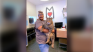 Mr. B, the cat who took social media by storm, is shown in this photo posted on August 22, 2019 on the Morris Animal Refuge Facebook Page (Facebook)