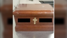 An urn was turned into police after being discovered by a homeowner in the Eastview neighbourhood. (RCMP)