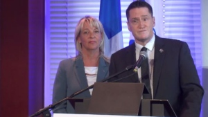 Quebec Environment Minister Benoit Charette announced the province would give the City of Longueuil over $800,000 to decontaminate soil on the site of a diesel spill that happened four years ago.