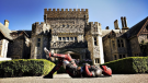 B.C. actor Ryan Renyolds catapulted the aging castle into the viral online stratosphere when he posted a tweet of himself in the Deadpool costume outside the building. (Twitter)