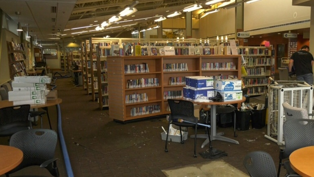 Flood forces long-term closure of Saanich library