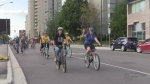 Cyclists take to streets seeking protection