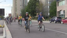 Cyclists take to streets seeking protection