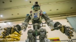 In this photo taken on Friday, July 26, 2019, and distributed by Roscosmos Space Agency Press Service, the Fedor robot is seen before being loaded into a Soyuz capsule to be launched by a new Soyuz 2.1a rocket from the launch pad at Russia's space facility in Baikonur, Kazakhstan. The new Russian rocket, that is expected to replace the current model sending manned missions into space, blasted off Thursday, carrying a Soyuz capsule with a humanoid robot that will be tested in spaceflight conditions aboard the International Space Station (ISS). (Roscosmos Space Agency Press Service photo via AP)