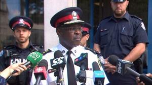 Toronto Police Chief Mark Saunders speaks