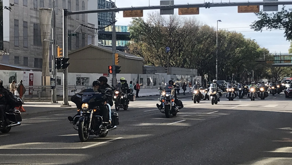Hundreds of motorcyclists hit the road to spread message of addiction recovery