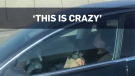 Man asleep at the wheel of self-driving Tesla
