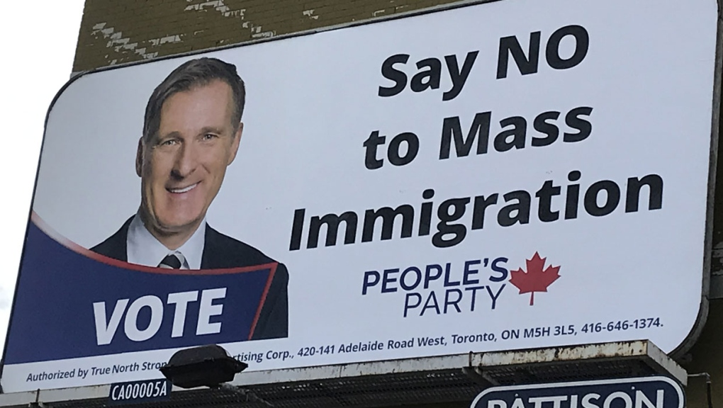 Some Calgary residents want to see a Maxime Bernier sign removed