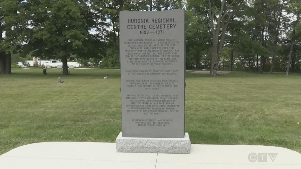 Memorial sculpture unveiled at Huronia Regional Centre cemetery
