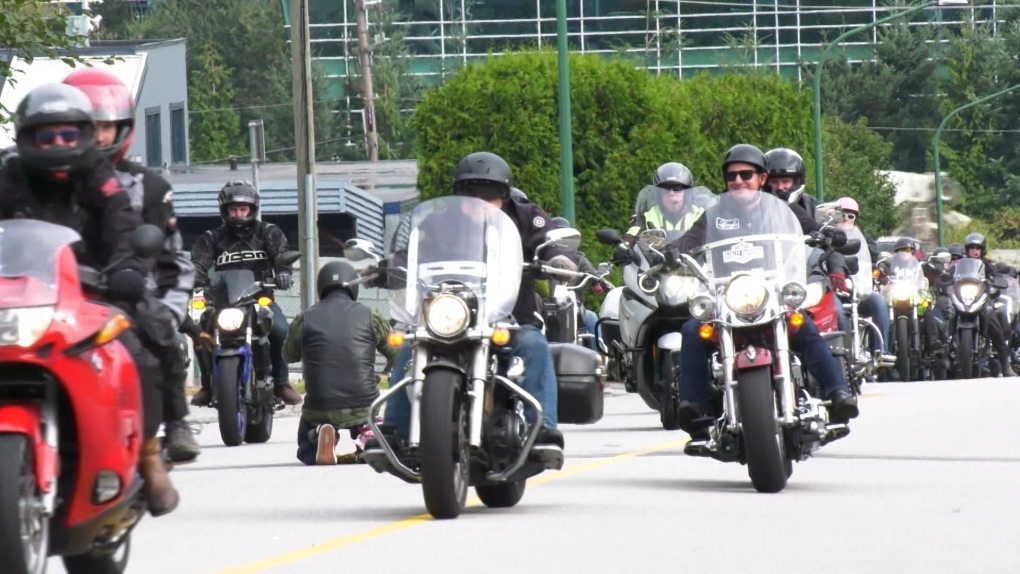 Bikers ride to Pemberton to raise funds for music therapy