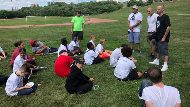 The Turk Foundation hosts a gang prevention event in Toronto on Aug. 24, 2019. (Miranda Anthistle/CTV News Toronto)