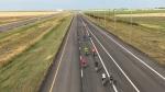 Bicyclists hit the open road on the Regina Bypass (Stefanie Davis / CTV Regina)