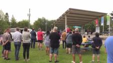 Moncton Pride Centennial Park gathering