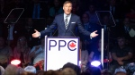 Maxime Bernier, leader of the People's Party of Canada, speaks at the launch of his campaign on Sunday, August 25, 2019 in Sainte-Marie Que. (THE CANADIAN PRESS / Jacques Boissinot)