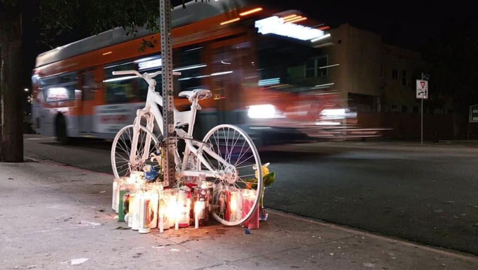 A gathering will be taking place on Sunday to set up a memorial for a man in his 40s who was killed after he was hit by a van while riding his bike last month. (Supplied/Facebook)