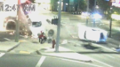 Car causes dramatic crash during high-speed chase