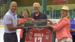 St. Albert's Akinsdale Arena was officially renamed the Jarome Iginla Arena on Aug. 25, 2019.
