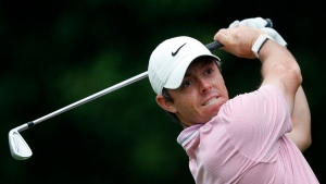 Rory McIlroy hits from the tee on the 11th hole during third-round play in the Tour Championship golf tournament Sunday, Aug. 25, 2019, at East Lake Golf Club in Atlanta. (AP Photo/John Bazemore)