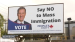 The billboards were posted across Canada, including near the Knight Street Bridge between Vancouver and Richmond. (CTV)