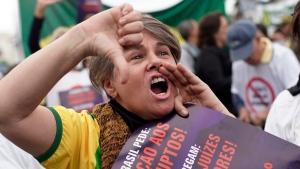 woman brAzil protest
