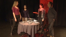 Actors perform a production at Lunchbox Theatre, which is now facing financial troubles.