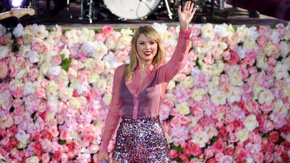 "Singer Taylor Swift performs on ABC's ""Good Morning America"" at Rumsey Playfield/SummerStage in Central Park on Thursday, Aug. 22, 2019, in New York. (Photo by Evan Agostini/Invision/AP)"