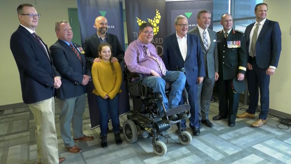 Dignitaries at the August 27, 2019 announcement of $1.2 million in federal funding to assist veterans in Calgary