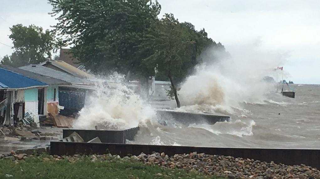 Flooding reported along Lake Erie shoreline