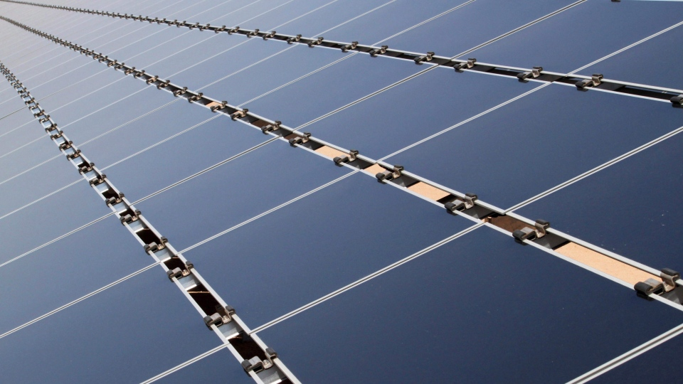 Some of the 30,000 solar panels that make up the Public Service Company of New Mexico's new 2-megawatt photovoltaic array in Albuquerque, N.M. on April 20, 2011. THE CANADIAN PRESS/AP-Susan Montoya Bryan