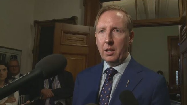 Education Minister Dominic Cardy figures if the legislature can resume with 47 MLAs, this year's grads can have in-person graduation ceremonies, but each school must come up with a plan to ensure the safety of those in attendance.