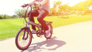 Electric bike in a park. (Shutterstock)
