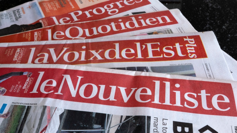 A selection of newspapers owned by Groupe Capitales Medias (GCM) are pictured in Montreal. The group filed for bankruptcy. THE CANADIAN PRESS/Paul Chiasson