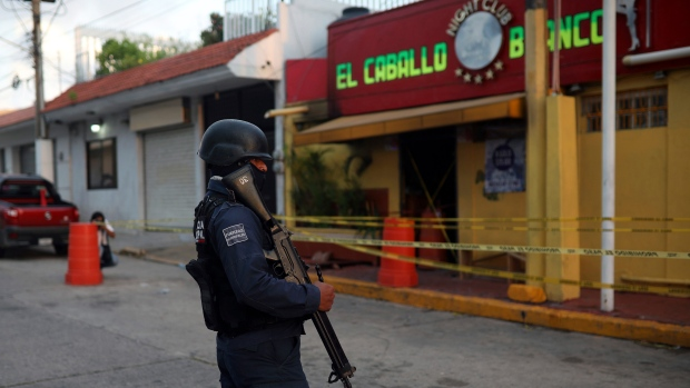 26 killed in fiery attack on bar in southern Mexico | CTV News