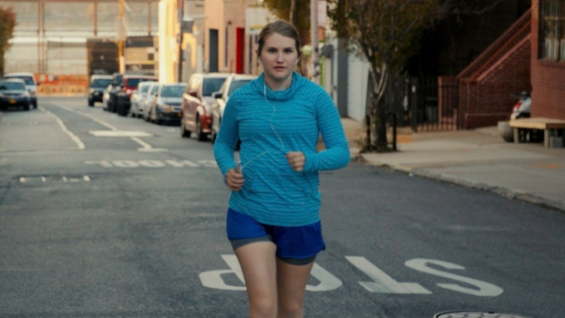 """This image released by Amazon Studios shows Jillian Bell, who plays Brittany in the film """"Brittany Runs a Marathon,"""" directed by Paul Downs Colaizzo. (Amazon Studios via AP)"""