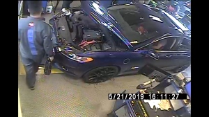 Security camera video from Mr. Lube in Richmond