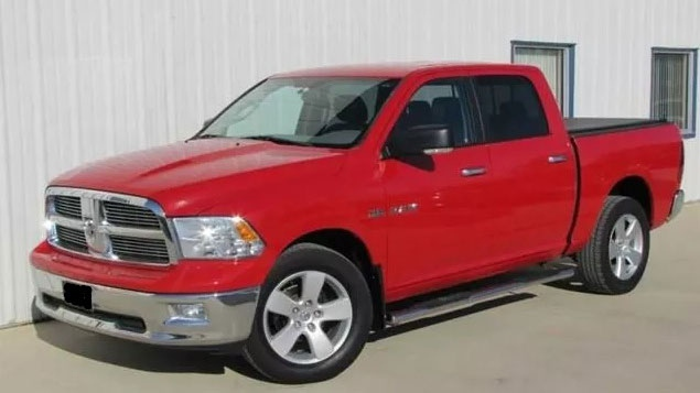 RCMP released a photo of a truck similar to the one Master Cpl. Patrik Mathews was last seen driving. He is believed to be driving a red 2010 Dodge Ram 1500 SLT with Manitoba licence plate number: HXJ 806.