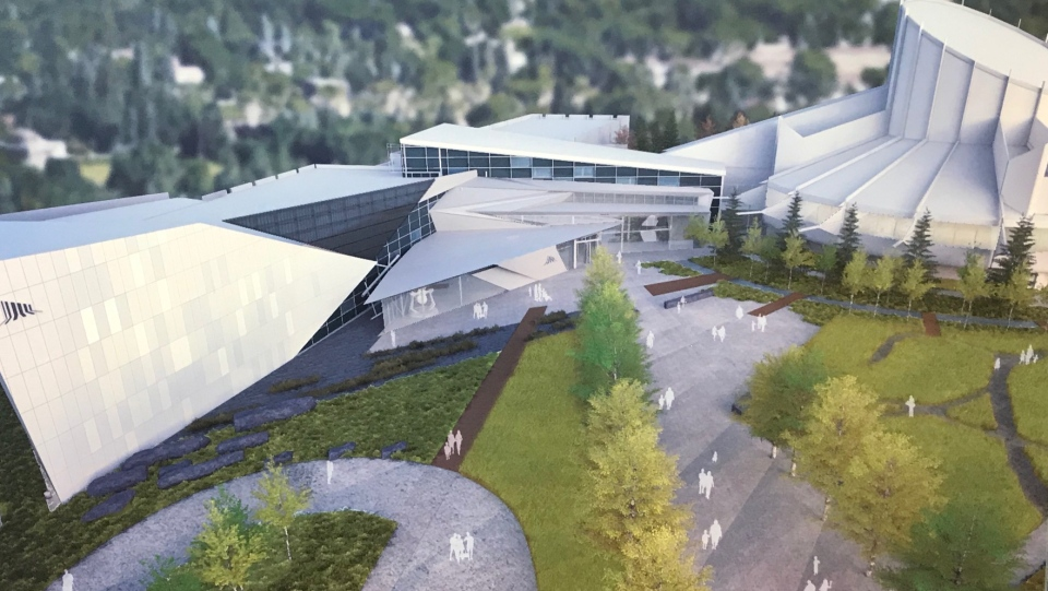 An artist's rendering of the completed Aurora project at the Telus World of Science Edmonton is shown. (Submitted)