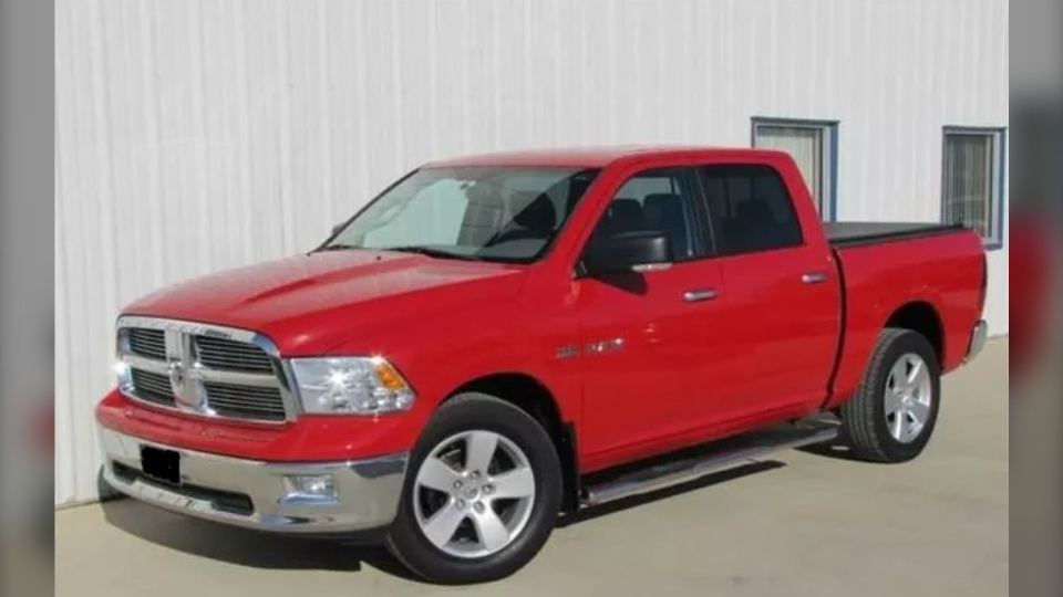 Supplied photo of a red 2010 Dodge Ram 1500 SLT