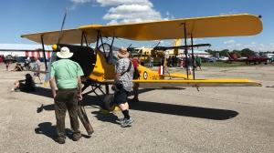 The Tiger Moth. Canadian built, primarily a trainer plane. (Dan Lauckner / CTV Kitchener)