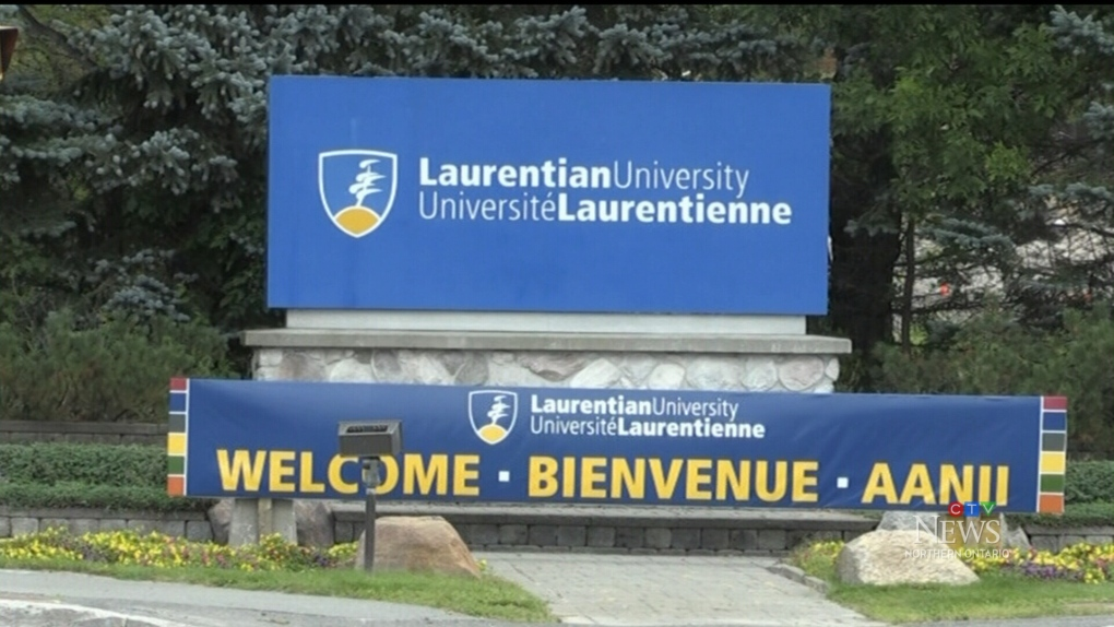 New trilingual signage at Laurentian University